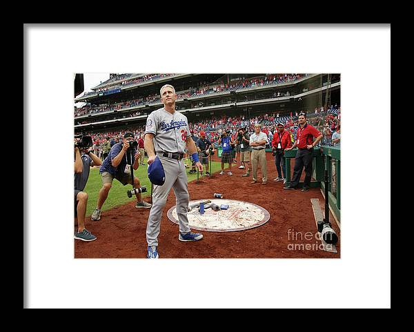 People Framed Print featuring the photograph Chase Utley by Hunter Martin