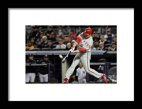 People Framed Print featuring the photograph Chase Utley by Jed Jacobsohn
