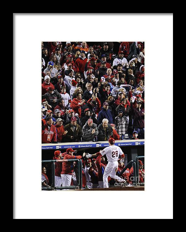 People Framed Print featuring the photograph Chase Utley by Jeff Zelevansky