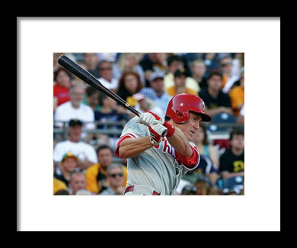 Professional Sport Framed Print featuring the photograph Chase Utley by Justin K. Aller