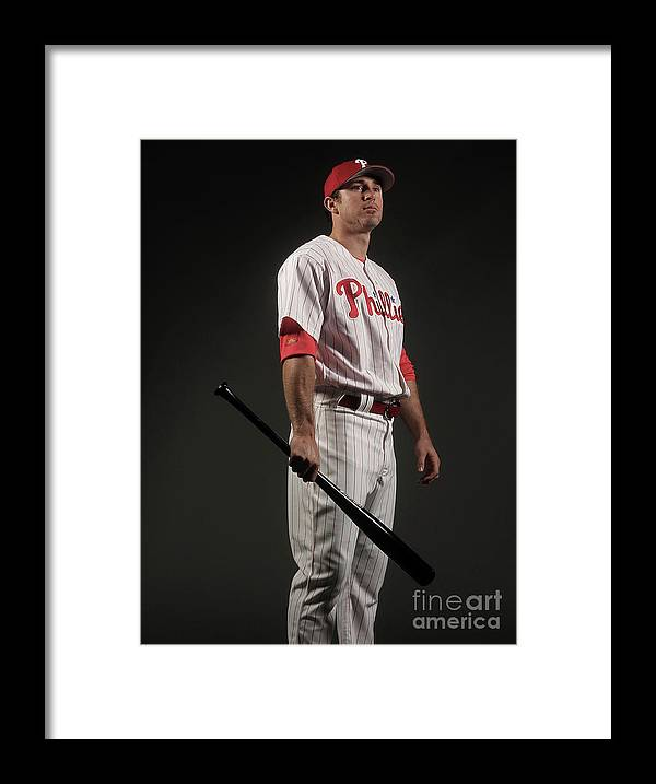 Media Day Framed Print featuring the photograph Chase Utley by Nick Laham
