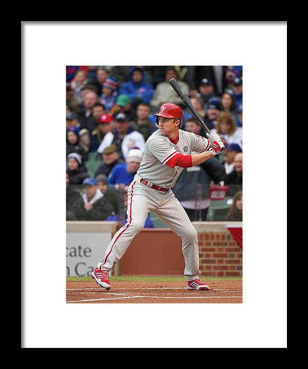National League Baseball Framed Print featuring the photograph Chase Utley by Ron Vesely