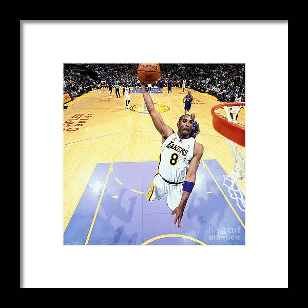 Nba Pro Basketball Framed Print featuring the photograph Chauncey Billups and Kobe Bryant by Nathaniel S. Butler