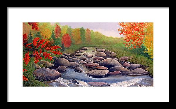 Rick Huotari Framed Print featuring the painting Cherokee Park by Rick Huotari