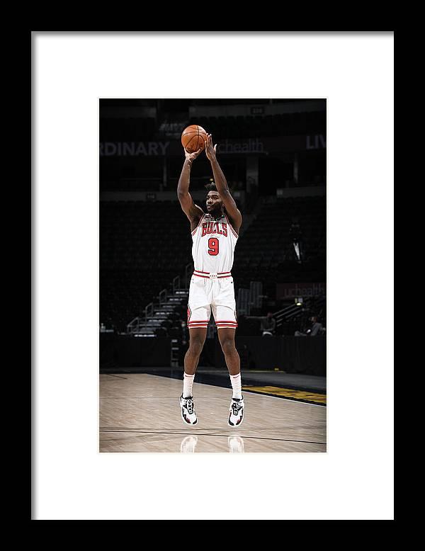Nba Pro Basketball Framed Print featuring the photograph Chicago Bulls v Denver Nuggets by Garrett Ellwood