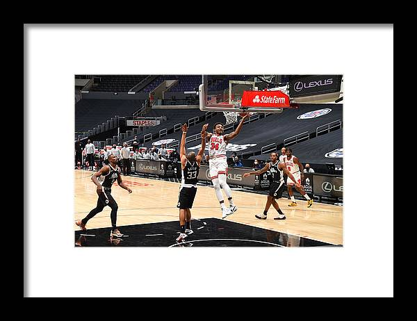 Nba Pro Basketball Framed Print featuring the photograph Chicago Bulls v LA Clippers by Adam Pantozzi