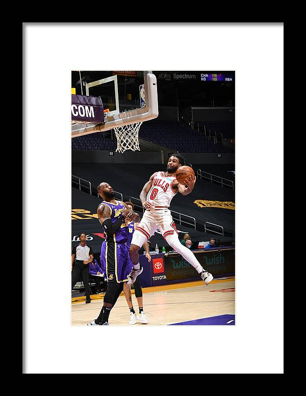 Coby White Framed Print featuring the photograph Chicago Bulls v LA Lakers by Adam Pantozzi