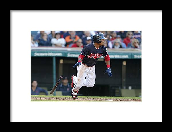 People Framed Print featuring the photograph Chicago White Sox v Cleveland Indians by David Maxwell