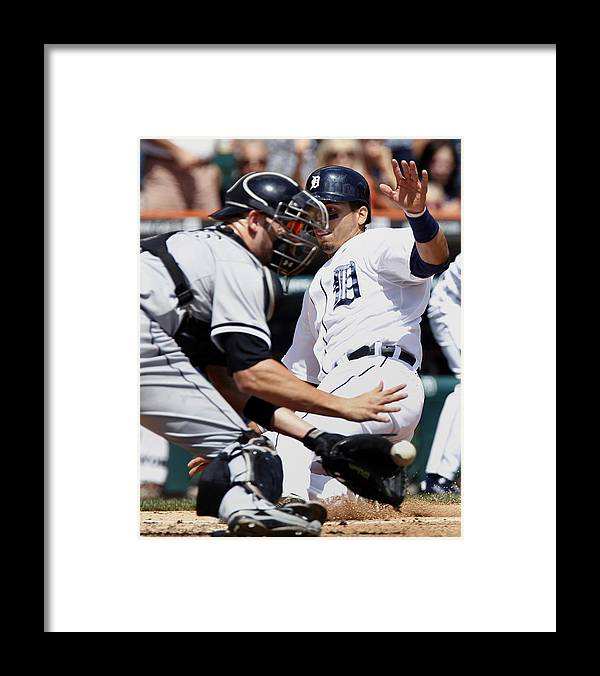 Baseball Catcher Framed Print featuring the photograph Chicago White Sox v Detroit Tigers by Duane Burleson