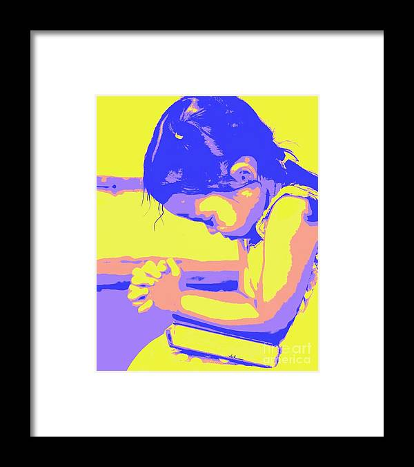 Prayer Framed Print featuring the painting Child Praying 1 by Jack Bunds