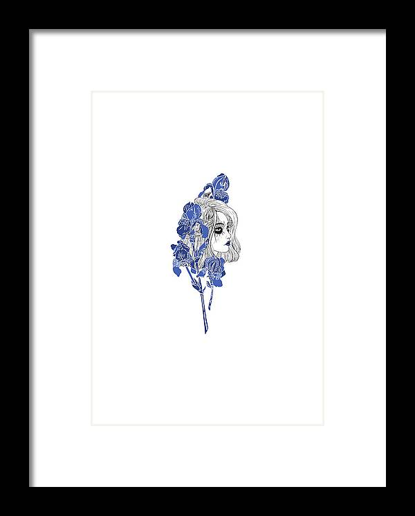Digital Art Framed Print featuring the digital art China girl by Elly Provolo