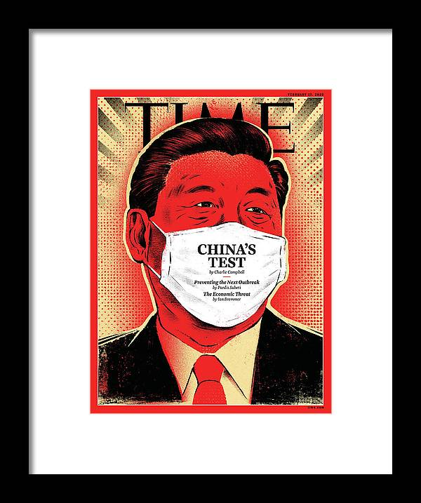 China Framed Print featuring the photograph China's Test by Illustration by Edel Rodriguez for TIME