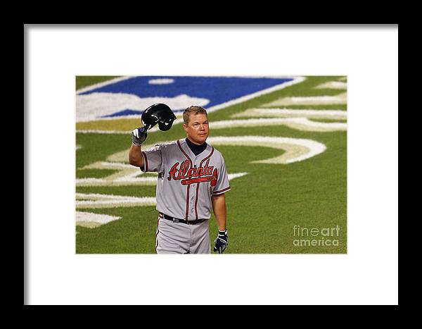 Crowd Framed Print featuring the photograph Chipper Jones by Dilip Vishwanat