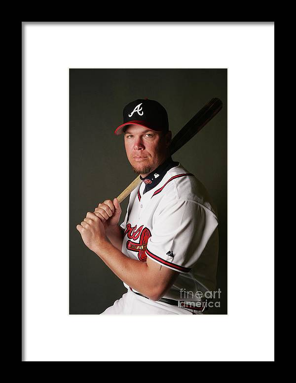 Media Day Framed Print featuring the photograph Chipper Jones by Elsa