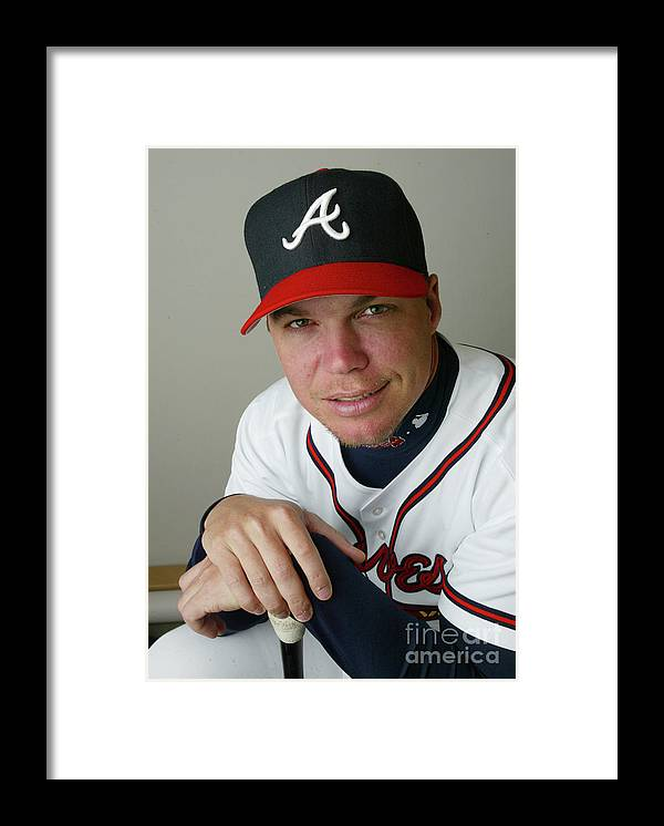Media Day Framed Print featuring the photograph Chipper Jones by Rick Stewart