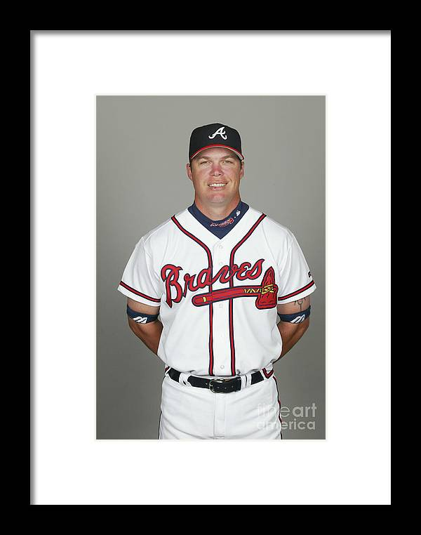 Media Day Framed Print featuring the photograph Chipper Jones by Tony Firriolo