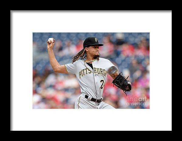 Three Quarter Length Framed Print featuring the photograph Chris Archer by Greg Fiume