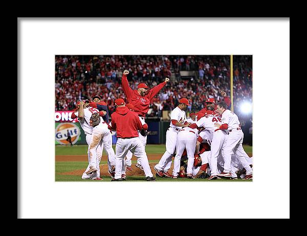 St. Louis Cardinals Framed Print featuring the photograph Chris Carpenter by Ezra Shaw