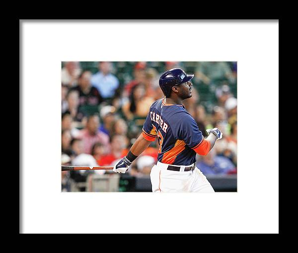 American League Baseball Framed Print featuring the photograph Chris Carter by Bob Levey