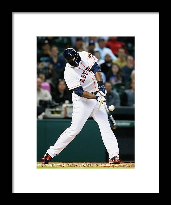 American League Baseball Framed Print featuring the photograph Chris Carter by Scott Halleran