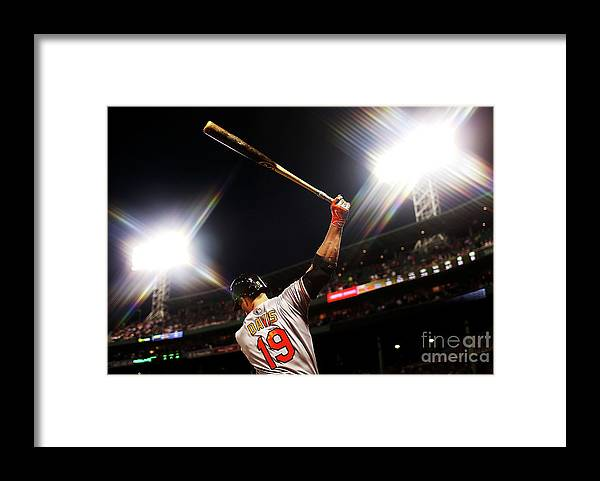 American League Baseball Framed Print featuring the photograph Chris Davis by Adam Glanzman