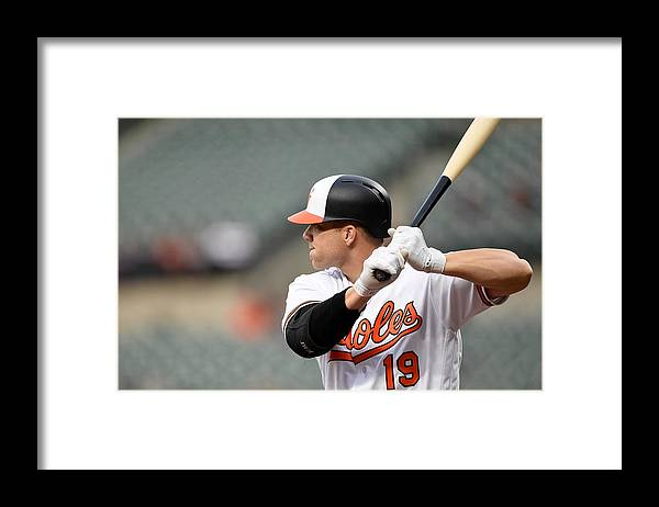 American League Baseball Framed Print featuring the photograph Chris Davis by G Fiume
