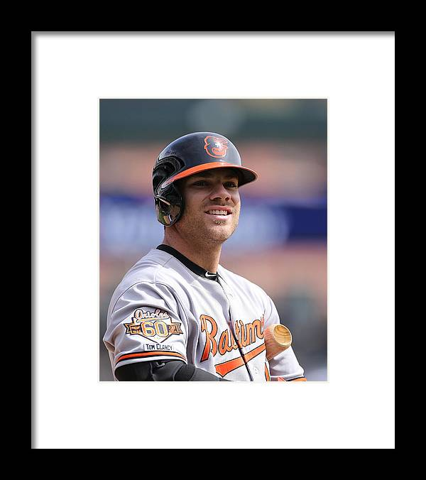 American League Baseball Framed Print featuring the photograph Chris Davis by Leon Halip