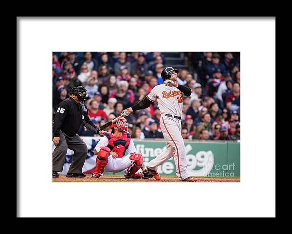 Ninth Inning Framed Print featuring the photograph Chris Davis by Michael Ivins/boston Red Sox