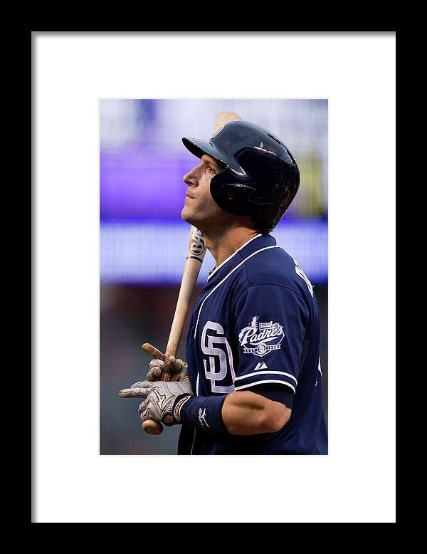 National League Baseball Framed Print featuring the photograph Chris Denorfia by Justin Edmonds