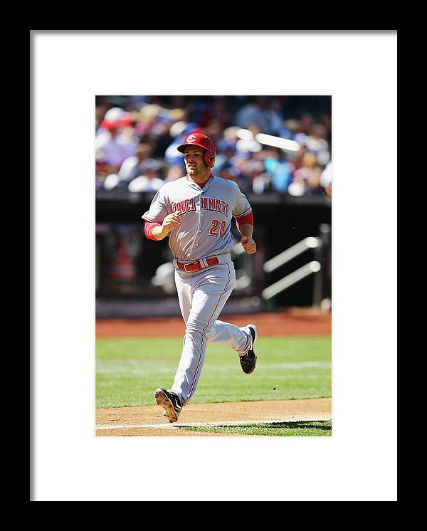 American League Baseball Framed Print featuring the photograph Chris Heisey by Al Bello
