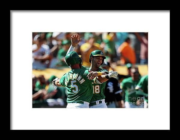People Framed Print featuring the photograph Chris Herrmann And Chad Pinder by Jason O. Watson
