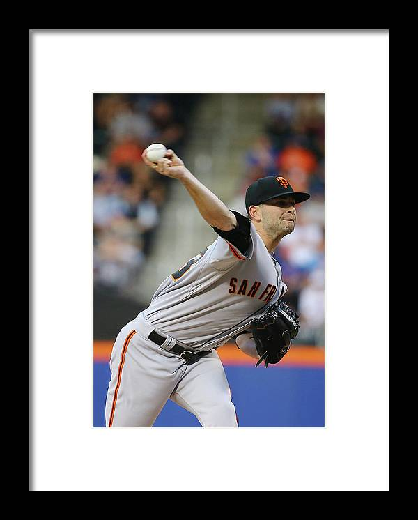 Three Quarter Length Framed Print featuring the photograph Chris Heston by Al Bello
