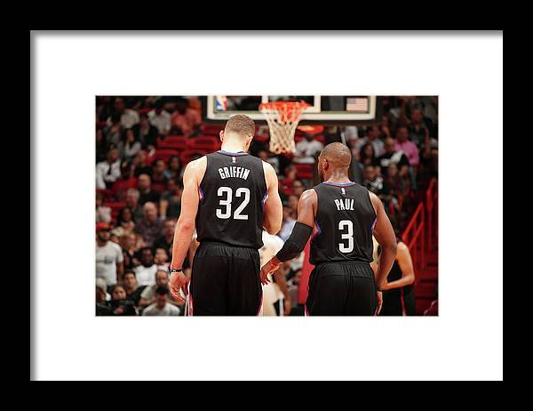Nba Pro Basketball Framed Print featuring the photograph Chris Paul and Blake Griffin by Issac Baldizon