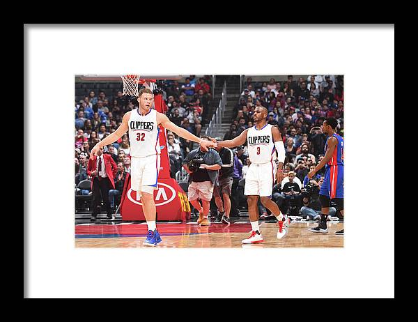 Nba Pro Basketball Framed Print featuring the photograph Chris Paul and Blake Griffin by Juan Ocampo