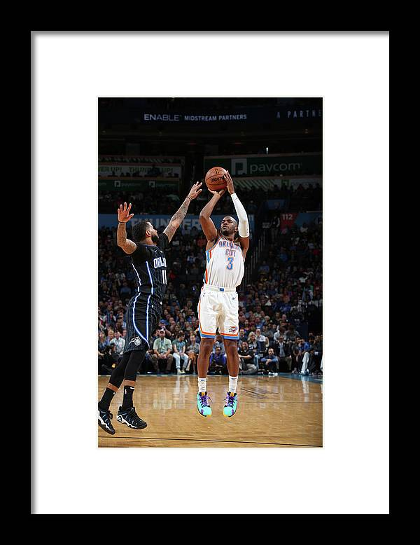 Nba Pro Basketball Framed Print featuring the photograph Chris Paul and D.j. Augustin by Zach Beeker