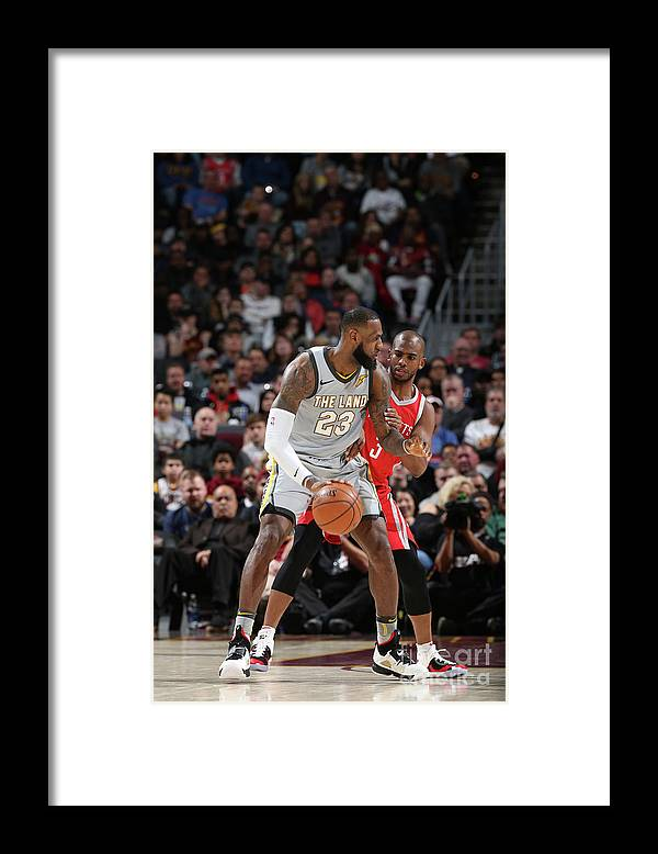 Nba Pro Basketball Framed Print featuring the photograph Chris Paul and Lebron James by Joe Murphy