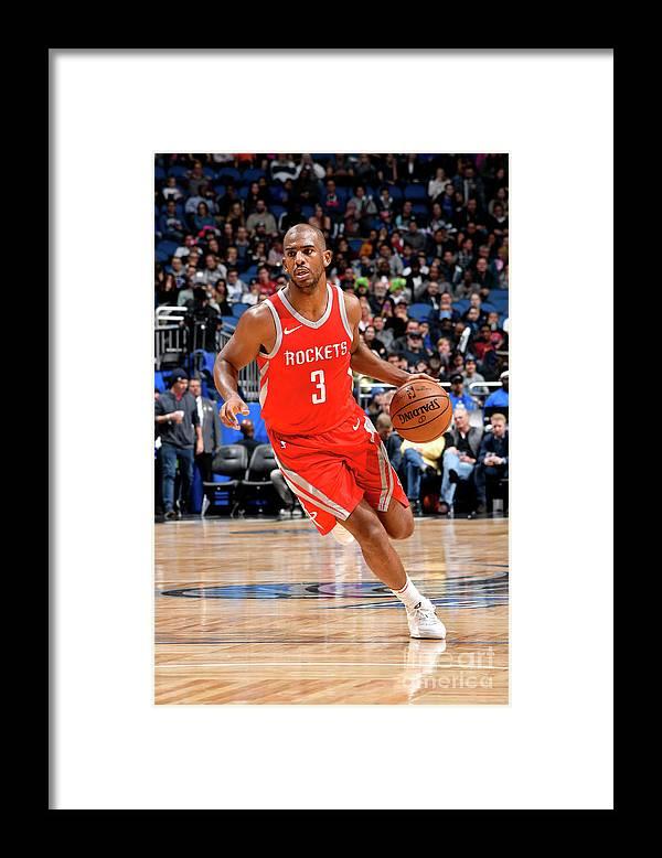 Nba Pro Basketball Framed Print featuring the photograph Chris Paul by Fernando Medina