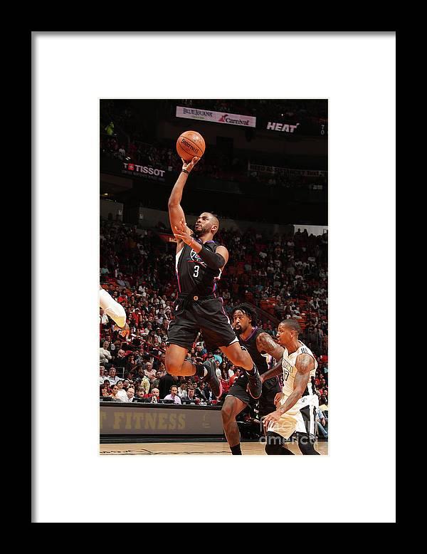 Nba Pro Basketball Framed Print featuring the photograph Chris Paul by Issac Baldizon