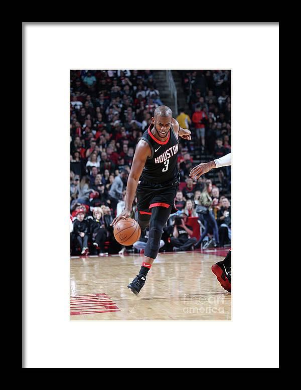 Nba Pro Basketball Framed Print featuring the photograph Chris Paul by Layne Murdoch