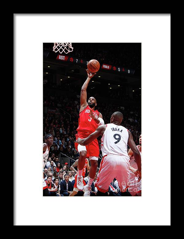 Nba Pro Basketball Framed Print featuring the photograph Chris Paul by Mark Blinch