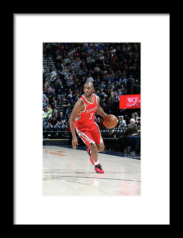 Nba Pro Basketball Framed Print featuring the photograph Chris Paul by Melissa Majchrzak