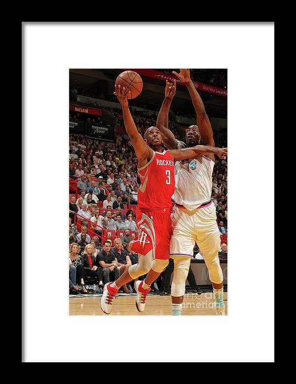 Nba Pro Basketball Framed Print featuring the photograph Chris Paul by Oscar Baldizon
