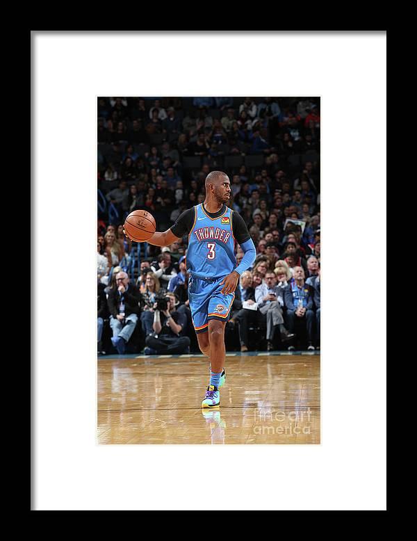 Nba Pro Basketball Framed Print featuring the photograph Chris Paul by Zach Beeker
