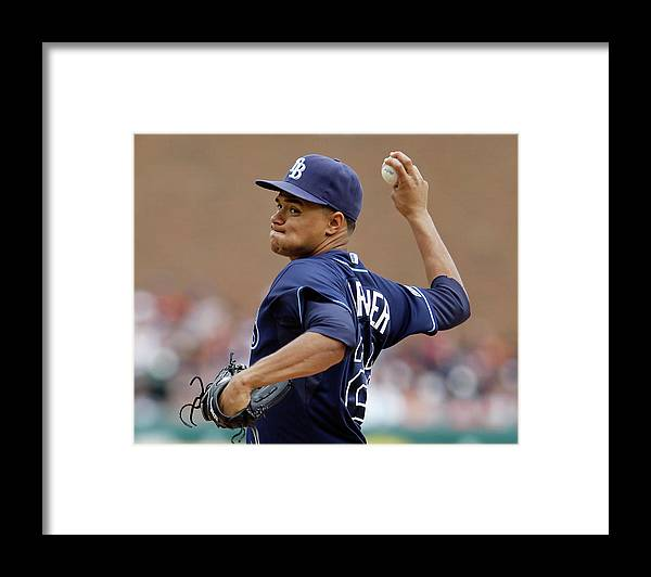 American League Baseball Framed Print featuring the photograph Chris Ray by Duane Burleson