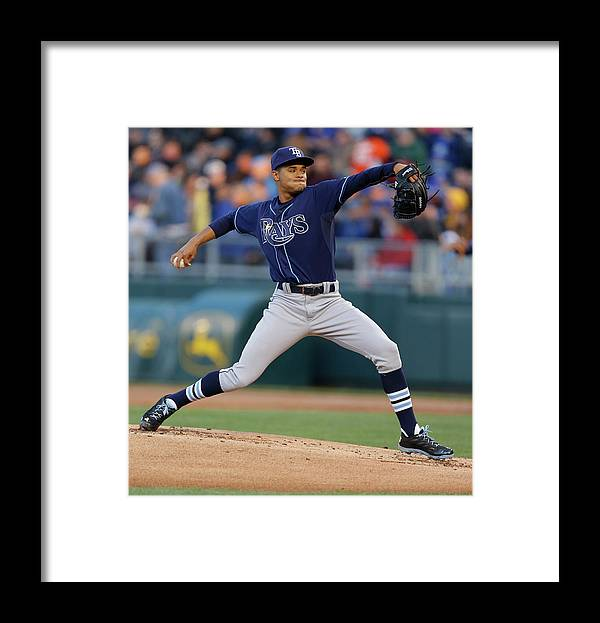 American League Baseball Framed Print featuring the photograph Chris Ray by Ed Zurga