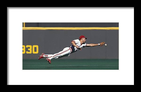 Ball Framed Print featuring the photograph Chris Sabo by Ronald C. Modra/sports Imagery