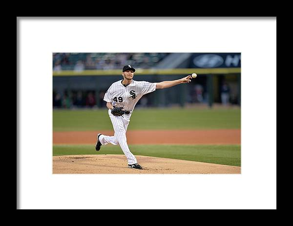 American League Baseball Framed Print featuring the photograph Chris Sale by Brian Kersey
