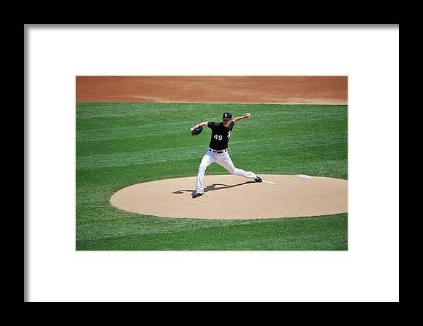 American League Baseball Framed Print featuring the photograph Chris Sale by David Banks