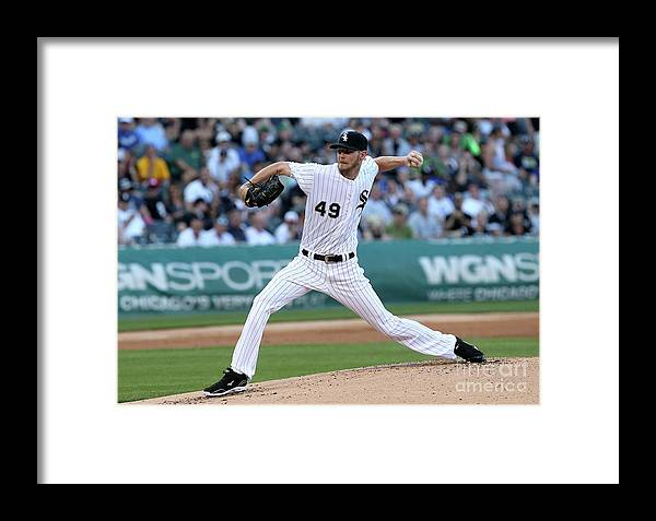 Second Inning Framed Print featuring the photograph Chris Sale by Dylan Buell