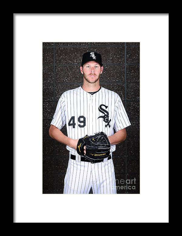 Media Day Framed Print featuring the photograph Chris Sale by Jennifer Stewart